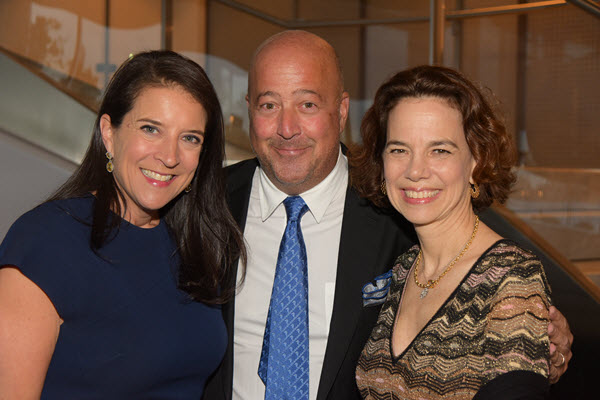 Christina Grdovic, Andrew Zimmern, and Dana Cowin Photo Credit: Rob Rich / Society Allure