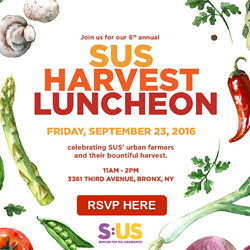 SUS' Annual Harvest Luncheon: September 23, 2016