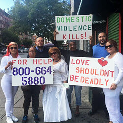 Marching to Raise Awareness Of Domestic Violence