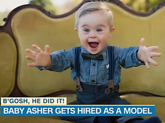 Toddler With Down Syndrome Lands Modeling Gig