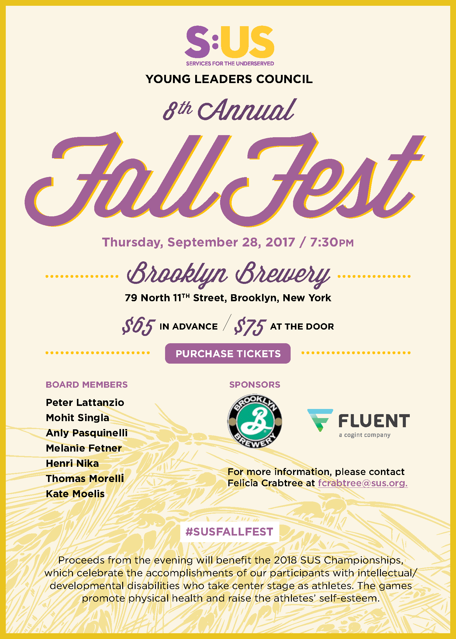Brooklyn Brewery Fall Fest Invitation