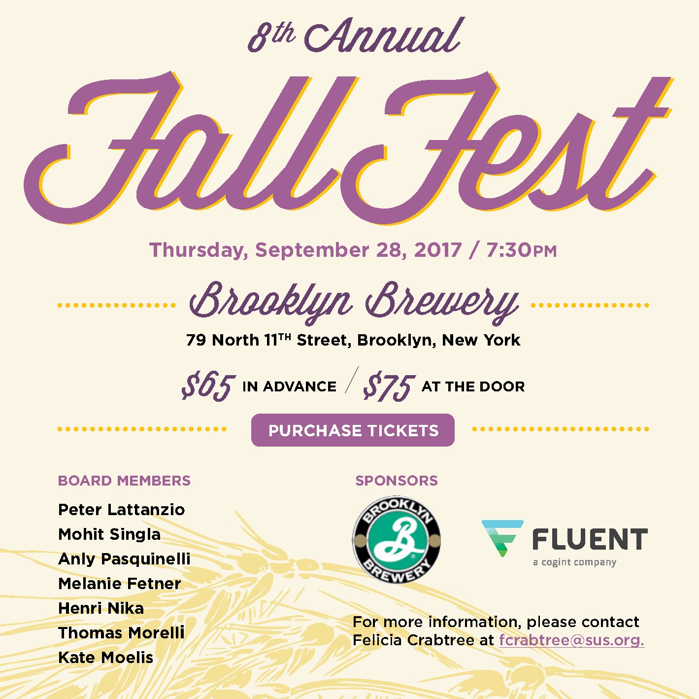 FallFest at the Brooklyn Brewery: September 28, 2017