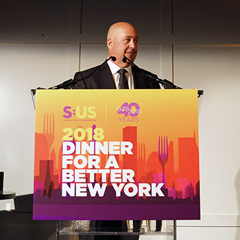 Watch Andrew Zimmern's Powerful Remarks at the 2018 Dinner for a Better New York