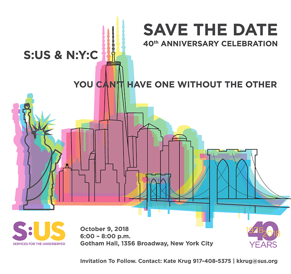 Save the Date! S:US 40th Anniversary Celebration: October 9, 2018