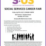 Social Services Career Fair: April 28, 2017