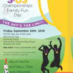 S:US Championships and Family Fun Day: September 20,  2019