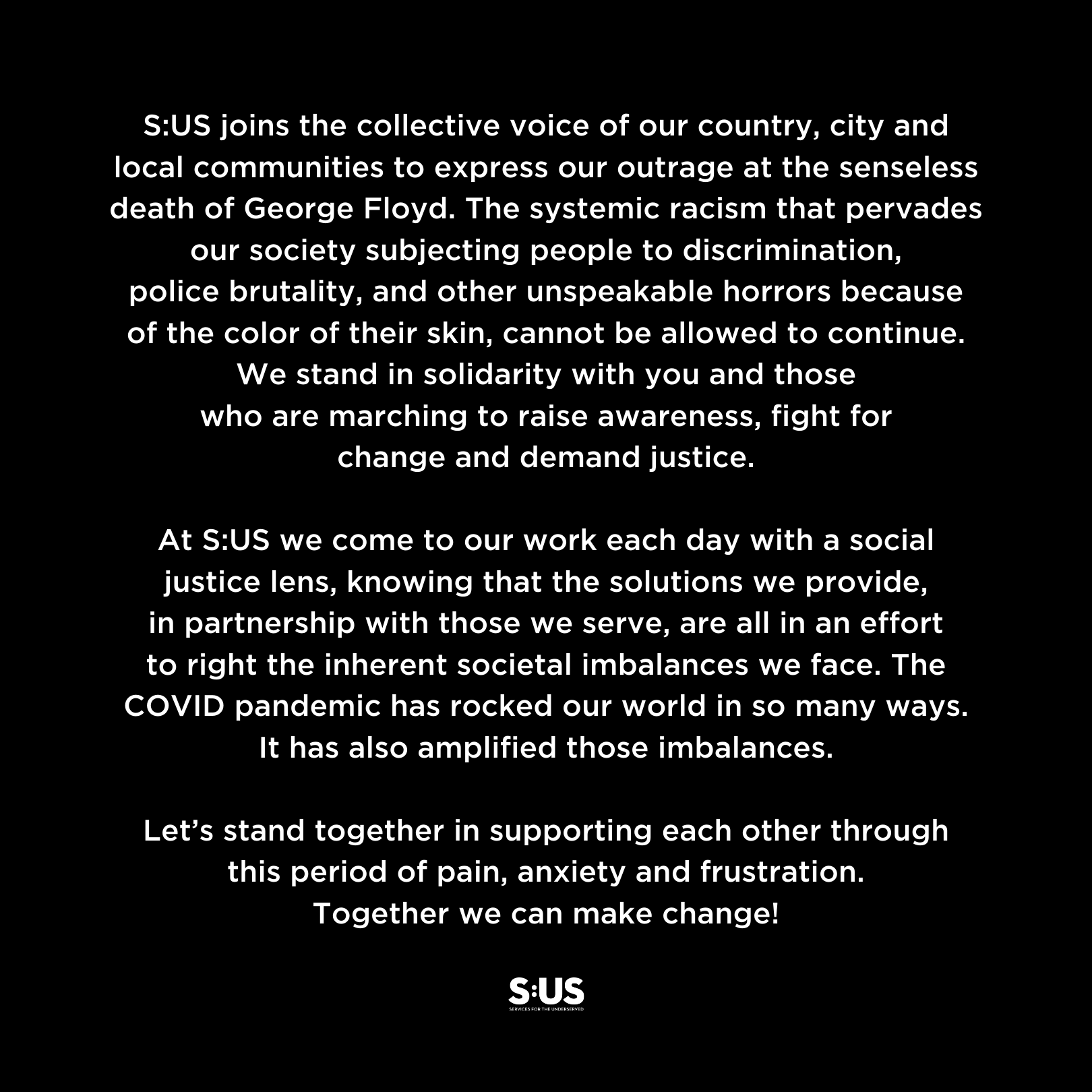 We stand in solidarity