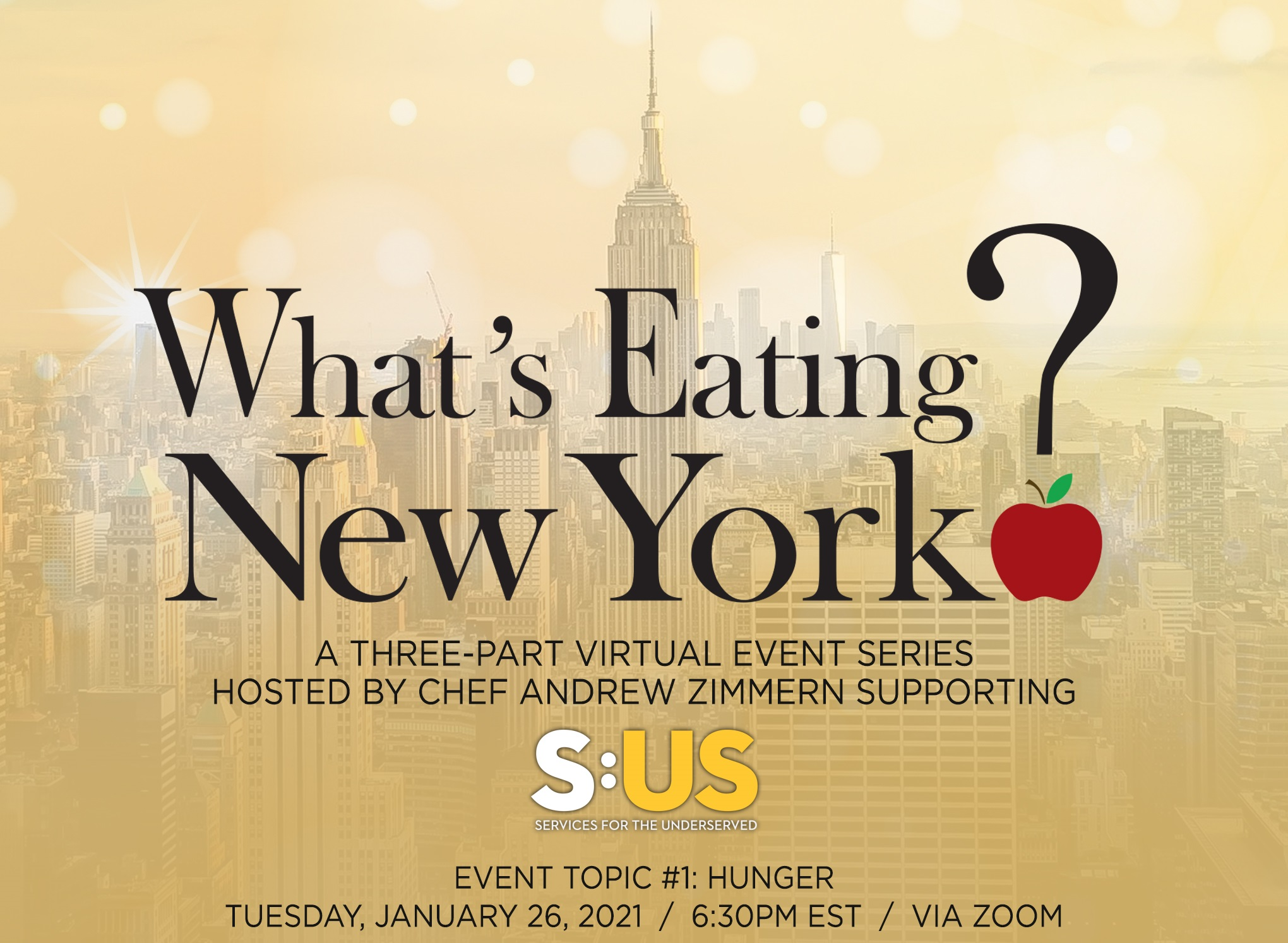 Join us for our first virtual event on Tuesday, January 26, 2021 at 6:30pm EST