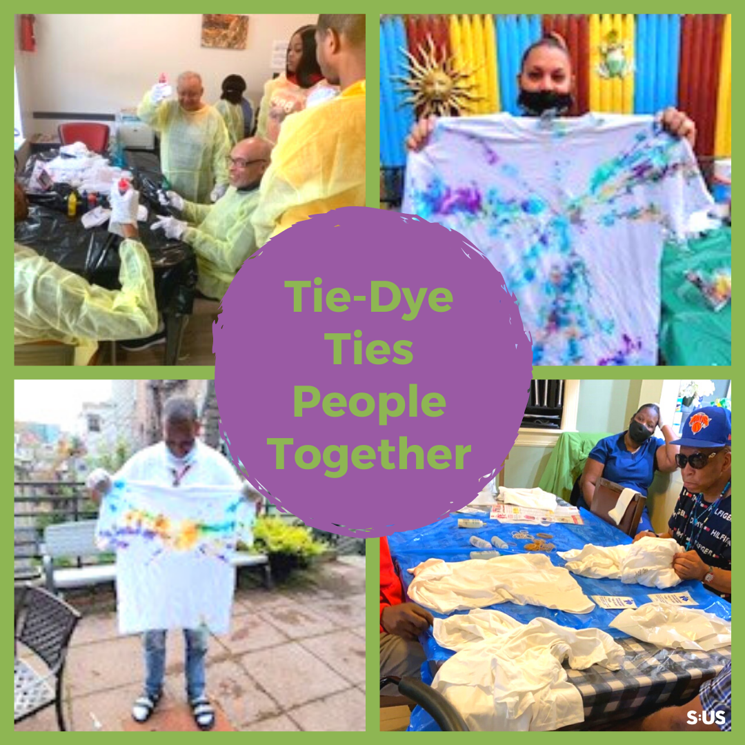 Virtual Tie-dye Event Connects People in S:US Residences